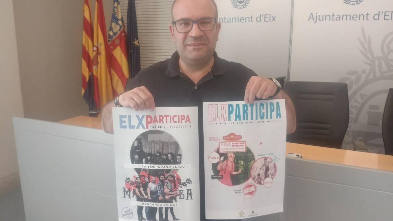 Elx Participa llega este fin de semana a La Baia y a la Plaza Francesc Cantó, en el barrio de Carrús