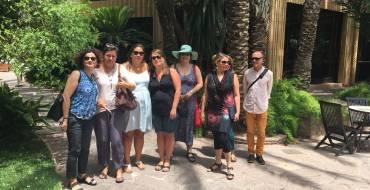 Visitelche presenta su oferta turística de Elche a un grupo de profesores americanos