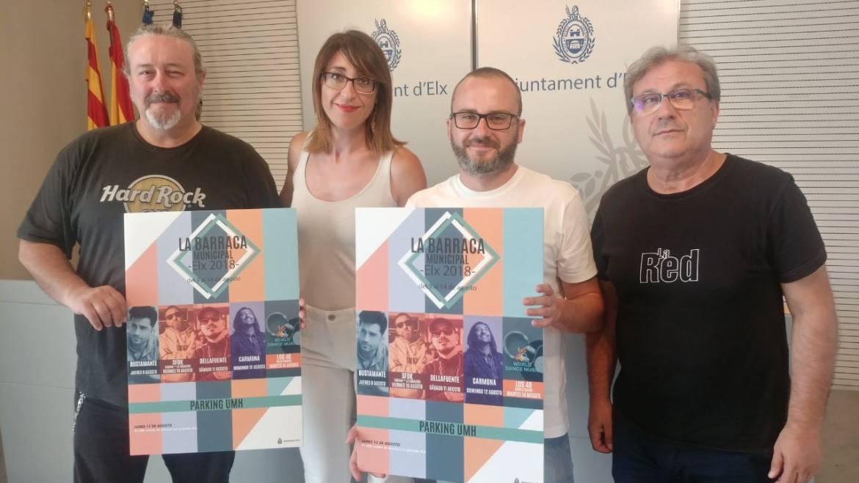 Bustamante, Antonio Carmona, Dellafuente i SFDK configuren la programació de la Barraca Municipal 2018