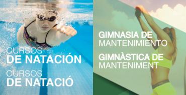 Inscripción a los programas de natación y gimnasia de mantenimiento