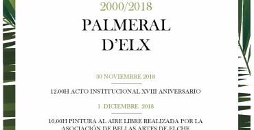 XVIII Aniversario de la declaración del Palmeral d'Elx como Patrimonio de la Humanidad