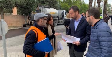 Comienza el asfaltado de la Avenida de la Libertad en el marco de un plan de mejora de la vía pública por importe de 870.000 euros