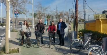 El Ayuntamiento inaugura la primera estación de BiciElx en el Polígono Industrial de Carrús