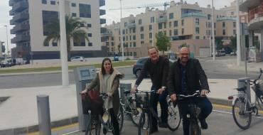 Inaugurada una nueva estación de BiciElx en Travalón, junto al Parque Multiaventuras