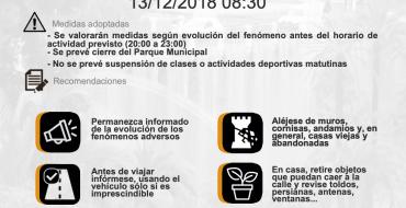 Preemergència TARONJA per vent (13/12/18 08:30)