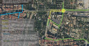 Obres de millora de la coberta del pas per als vianants entre andanes de RENFE Parc (actualitzat)