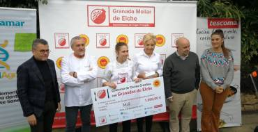 Cristina Gómez, del restaurante Eneko de Vizcaya, gana el concurso de cocina creativa con granadas de Elche