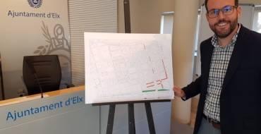 El Ayuntamiento invierte 170.000 euros en la mejora de aparcamientos y zonas verdes en Elche Parque Empresarial