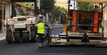 Corte de viales por asfaltado
