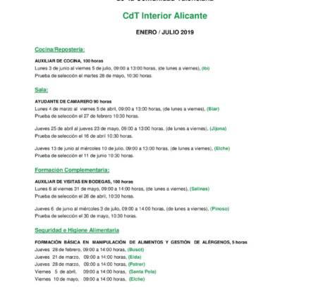 Cursos CDT-Interior en la Escuela de Hostelería