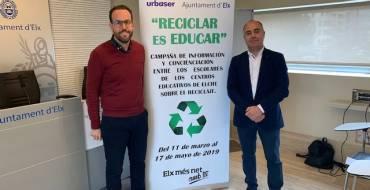 El Ayuntamiento y Urbaser fomentan el reciclaje con una campaña que va a llegar a más de 6.500 escolares