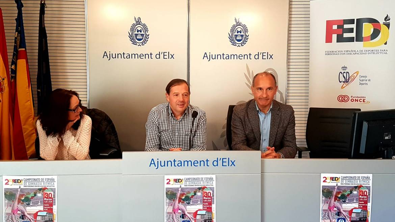 Elche acogerá el Campeonato Nacional de Gimnasia Rítmica para discapacitados intelectuales