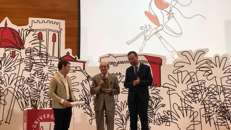 El alcalde de Elche, en la entrega de premios del Consejo Social de la UMH
