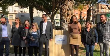 Reinaugurado el jardín en memoria de Lucrecia Pérez en Carrús Oeste
