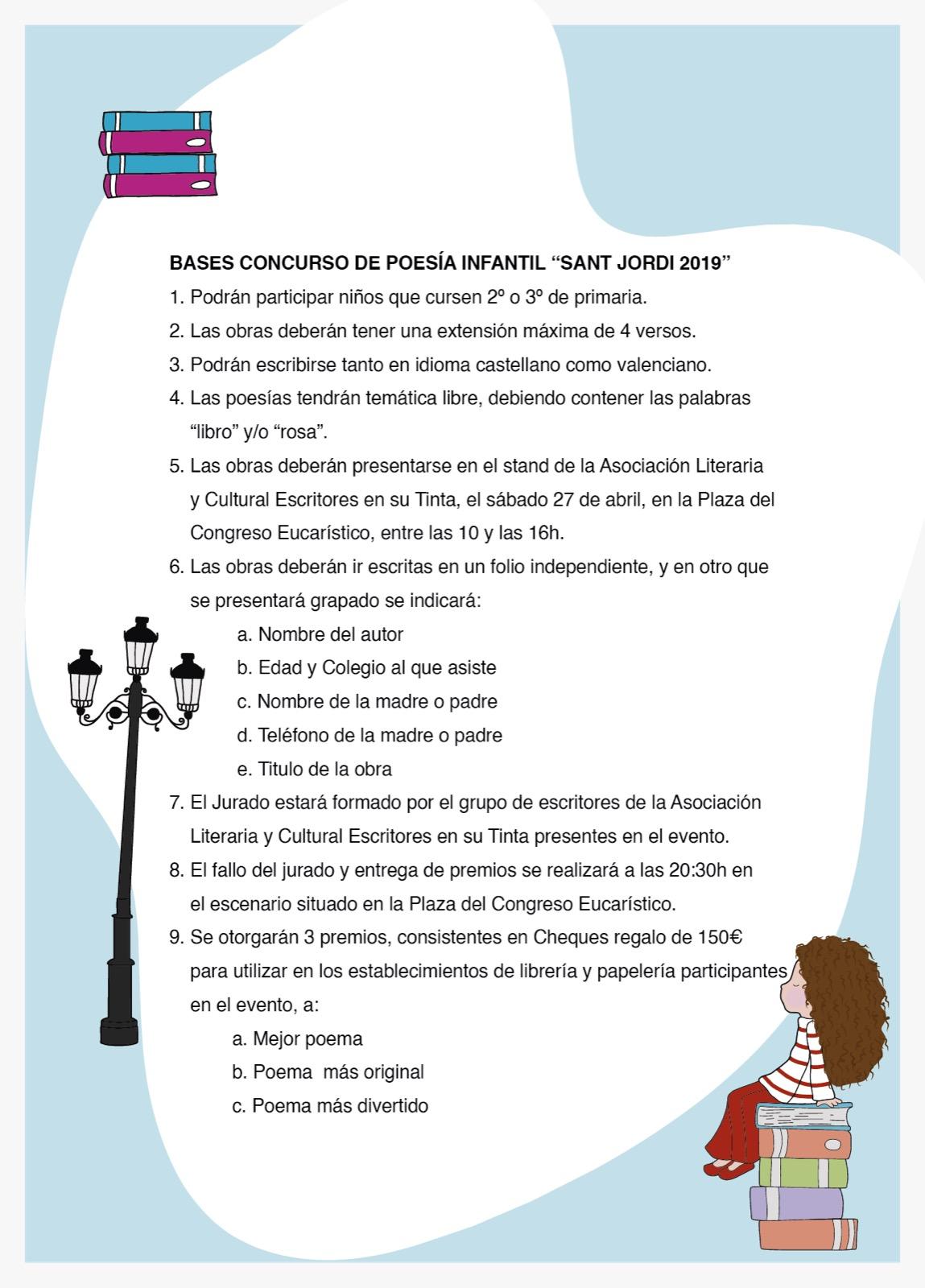 Concurso de poesía infantil Sant Jordi 2019