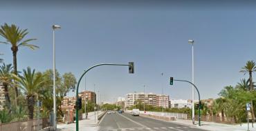 Corte de tráfico en carril del Puente del Ferrocarril