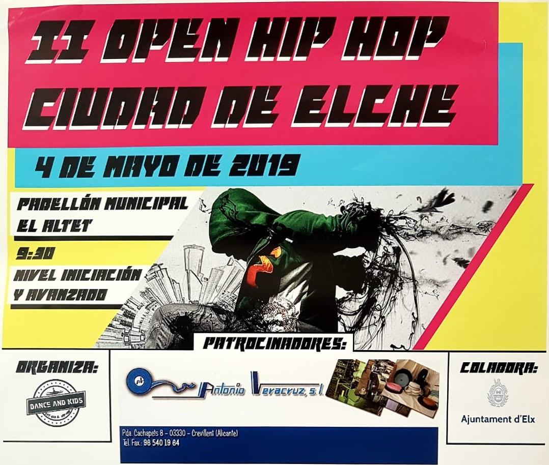 El II Open de Hip-hop Ciutat d'Elx omplirà de música i ball el pavelló Javi Ródenas Blasco de l'Altet