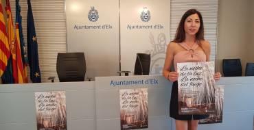 La edil de Fiestas, Mariola Galiana, presenta la campaña de patrocinio de palmeras para la Nit de l'Albà