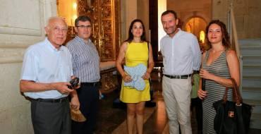 El alcalde de Elche, Carlos González, asiste a la Prova de l'Angel del Misteri d'Elx