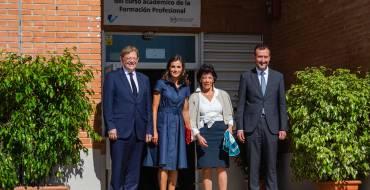 La reina na Letizia posa en valor la formació professional amb la inauguració del curs 2019/2020 en l'IES Severo Ochoa