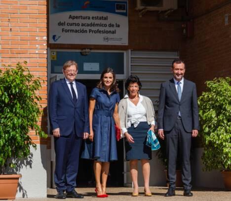 La reina doña Letizia pone en valor la Formación Profesional inaugurando el curso 2019/2020 en el IES Severo Ochoa