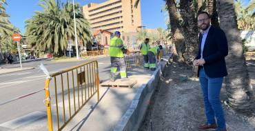 El Ayuntamiento inicia el Plan de renovación de aceras 2019-20 dotado de 300.000 euros actuando en el entorno del Hospital General