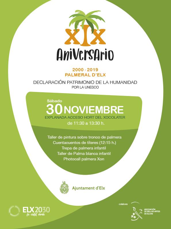XIX Aniversari de la Declaració del Palmerar d'Elx com a Patrimoni de la Humanitat per la UNESCO