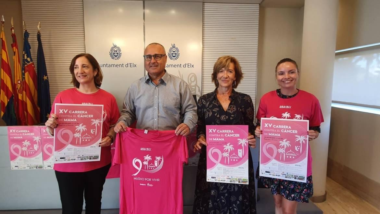 Elche se convertirá en una marea rosa el 24 de noviembre con la XV carrera contra el cáncer de mama