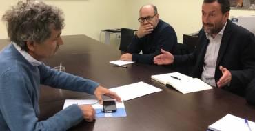 L'alcalde es reuneix amb el gerent de l'Entitat de Sanejament per a abordar la construcció de la nova depuradora