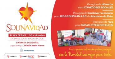 Una nueva edición de 'SoliNavidad' recogerá alimentos y juguetes con fines sociales