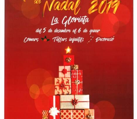 El Mercat de Nadal de la Glorieta tendrá una caseta de talleres de manualidades infantiles