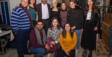 Carlos Gónzalez y miembros de la corporación municipal han acudido al concierto de Alba Reche