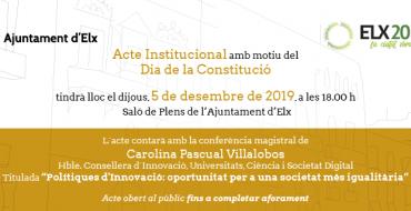 Acte Institucional amb motiu del Dia de la Constitució