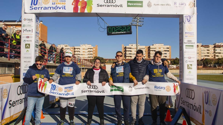 Un millar de personas participa  en la VI edición de la 10K Rotary