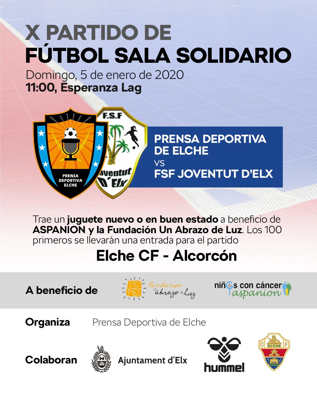 Llega el 10º partido benéfico entre la prensa deportiva de Elche y el Joventut d'Elx femenino