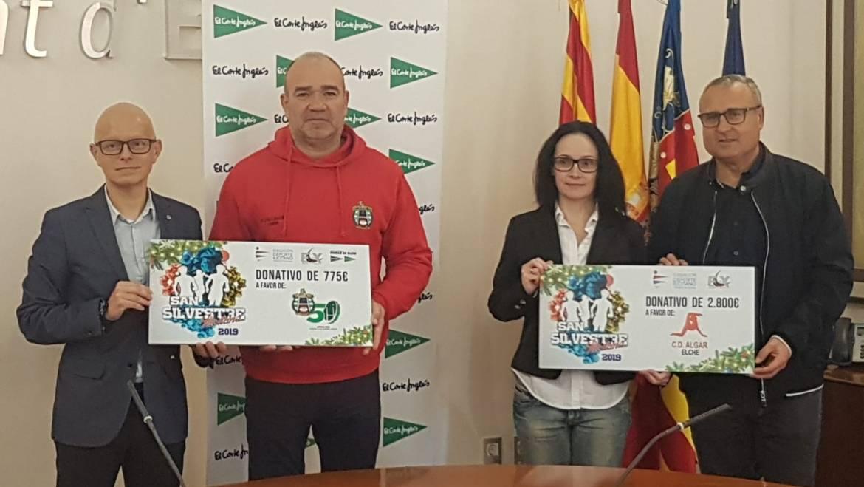 Vicente Alberola ha presidido la entrega de la recaudación recogida en la San Silvestre Ilicitana 2019
