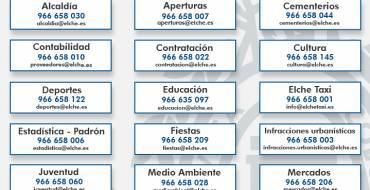 El Ayuntamiento publica un listado de teléfonos para que la población pueda contactar durante el aislameniento por el coronavirus