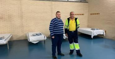 El Ayuntamiento habilita un albergue en el polideportivo de El Toscar para las personas sin techo
