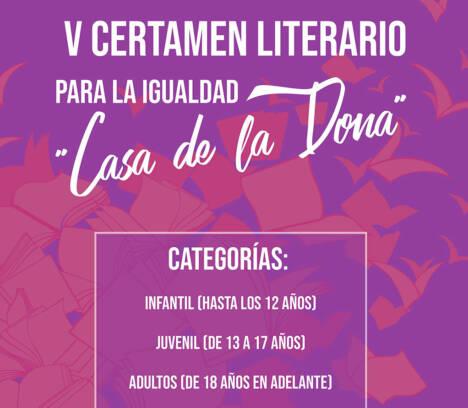"""Igualdad prorroga el plazo de presentación de trabajos del certamen literario """"Casa de la Dona"""""""