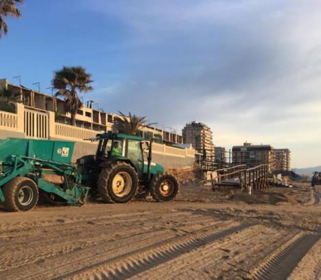 El Ayuntamiento intensifica los trabajos para la puesta a punto de las playas de Elche