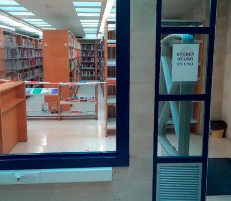 La biblioteca Aureliano Ibarra del Centro Polivalente de Carrús abre a partir del lunes 15 con cita previa