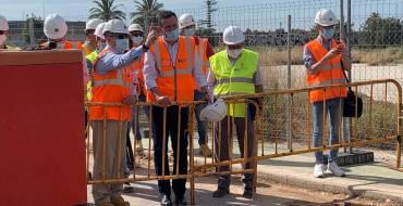 El alcalde anuncia que las obras del nuevo colector de la Ronda Sur estarán finalizadas a mediados de julio