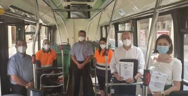 Los autobuses urbanos de Elche obtienen el certificado AENOR que avala la calidad y seguridad del servicio frente a la covid-19