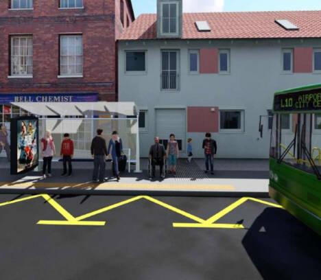 Movilidad invierte más de 238.000 euros en mejorar la accesibilidad de las paradas de autobús de las avenidas de la Libertad, del Ferrocarril y de la Universidad