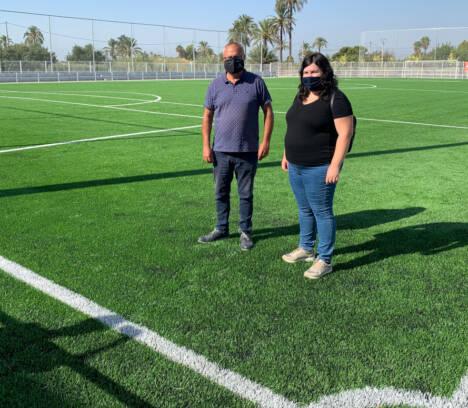 Elche cuenta con 12 campos de césped artificial de última generación tras finalizar las obras del de La Hoya