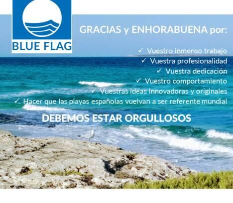Felicitación Bandera Azul por la gestión en las playas de Elche