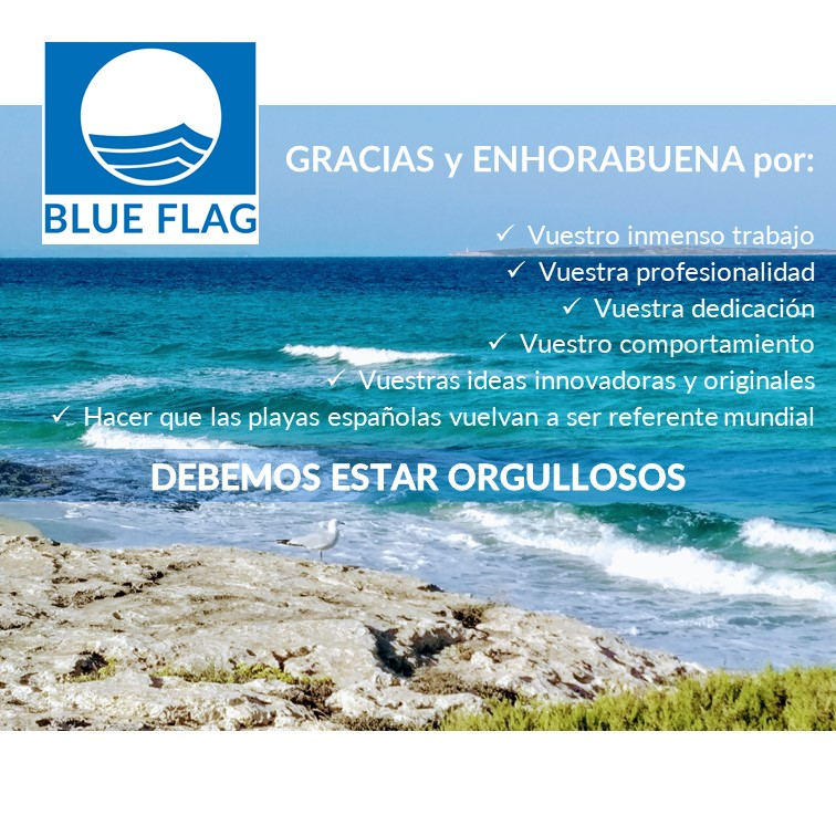 Felicitació Bandera Blava per la gestió a les platges d'Elx
