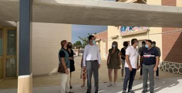 El alcalde visita la ampliación del colegio de La Galia, el tercer proyecto de Edificant que ya es una realidad