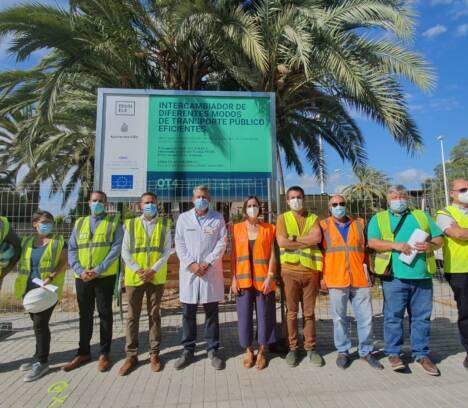 Las obras del intercambiador de autobuses del Hospital General de Elche finalizarán a mediados de noviembre