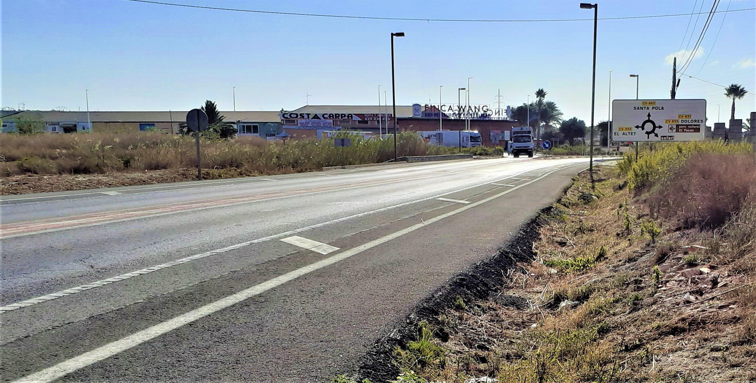 carretera Elche - Santa Pola